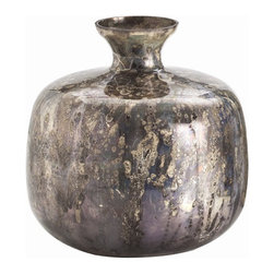 """Arteriors - Arteriors Home - Marbled Mercury Round Glass Vase - DK6018 - Arteriors Home - Marbled Mercury Round Glass Vase - DK6018 Features: Marbled. Collection: VaseGlass Finish Round Shape Some Assembly Required. Dimensions: 9.5"""" X 10"""" H"""