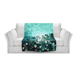 DiaNoche Designs - Throw Blanket Fleece - Patternization V - Original Artwork printed to an ultra soft fleece Blanket for a unique look and feel of your living room couch or bedroom space.  DiaNoche Designs uses images from artists all over the world to create Illuminated art, Canvas Art, Sheets, Pillows, Duvets, Blankets and many other items that you can print to.  Every purchase supports an artist!