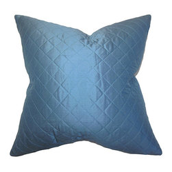 The Pillow Collection - Lexis Blue 18 x 18 Solid Throw Pillow - - Pillows have hidden zippers for easy removal and cleaning  - Reversible pillow with same fabric on both sides  - Comes standard with a 5/95 feather blend pillow insert  - All four sides have a clean knife-edge finish  - Pillow insert is 19 x 19 to ensure a tight and generous fit  - Cover and insert made in the USA  - Spot clean and Dry cleaning recommended  - Fill Material: 5/95 down feather blend The Pillow Collection - P18-MVT-1233-S100
