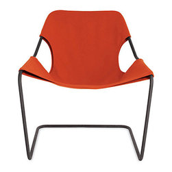Paulistano Armchair, Canvas, Orange/Black - Casually comfortable, this chair is chic in black and orange.