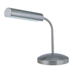 Lite Source - Lite Source Broden Contemporary Desk Lamp XSL-SP52902 - An incorporated blend of contemporary and vintage styling, this sleek Lite Source desk lamp is an effortless addition to any workspace. Ideal for adding both charm and function, this contemporary desk lamp also features a gooseneck and curvilinear detailing, finished in a versatile Polished Steel.