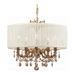 Crystorama - 5535-AG-SAW-GTM Crystorama Brentwood - In what is sure to be a timeless trend, designers and style-conscious homeowners are using mini-chandeliers in every room of the house, squeezing glamour and light into even the smallest places.