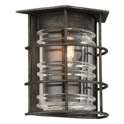 Troy Lighting - Troy Lighting B3791 Brunswick 1 Light Flush Mount Wall Sconce - Features: