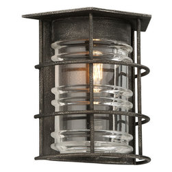 Troy Lighting - Troy Lighting B3791 Brunswick 1 Light Flush Mount Wall Sconce - Features: