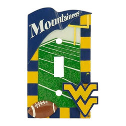 Baby Fanatic - NCAA West Virginia Mountaineers Light Switch Cover - FEATURES:
