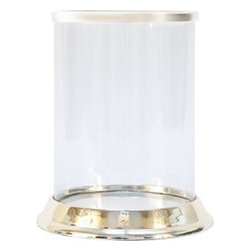Silver-Plated Hurricane Lamp - There are so many great uses for hurricane lamps.  Fill this beautiful lantern with a medium size pillar candle and place it on a coffee table or on a buffet or table during your next gathering.  Or, light a candle just you and enjoy its glow inside a gorgeous lantern.