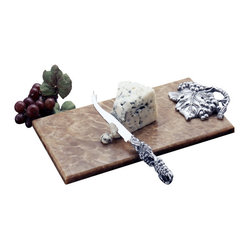 Arthur Court - Grape Cheese Knife with Onyx Board - Impress guests at your next gathering with this lovely set. Crafted of aluminum and onyx, it makes a handsome way to serve cheese — and the grape leaf and cluster motif is a natural complement to wine, of course!