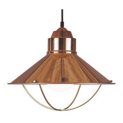 Kenroy Home - Kenroy 66349COP Harbour 1-Light Pendant, Copper Finish - Inspired by nautical lanterns, these pendants are a beautiful addition to any kitchen.  Available in cool Brushed Steel, warm Copper, or Oil Rubbed Bronze finish, they subtly complement sink fixtures and cabinet hardware.