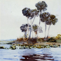 "Winslow Homer St. John's River, Florida - 16"" x 24"" Premium Archival Print - 16"" x 24"" Winslow Homer St. John's River, Florida premium archival print reproduced to meet museum quality standards. Our museum quality archival prints are produced using high-precision print technology for a more accurate reproduction printed on high quality, heavyweight matte presentation paper with fade-resistant, archival inks. Our progressive business model allows us to offer works of art to you at the best wholesale pricing, significantly less than art gallery prices, affordable to all. This line of artwork is produced with extra white border space (if you choose to have it framed, for your framer to work with to frame properly or utilize a larger mat and/or frame).  We present a comprehensive collection of exceptional art reproductions byWinslow Homer."