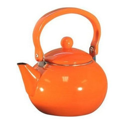 Reston Lloyd 2-quart Enamel-on-steel Teakettle, Orange