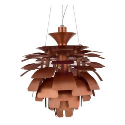 "Modway - Petal 24"" Chandelier in Copper - Elevate the heart and uplift the mind in a liberated release of light. The Petal Lamp is a study in perception stemming from the inner recesses of the soul. Reflect limitless possibilities and shower abundance as you diffuse light pleasantly with a striking classic for all times and settings."