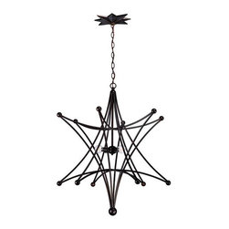 Crystorama 9236-EB English Bronze Chandelier Astro Collection Collection -