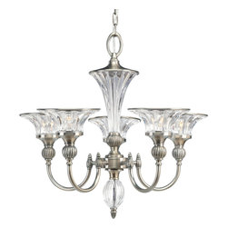 Progress Lighting - Progress Lighting P4506-101 5-Light Chandelier with Clear Crystal Glass - Progress Lighting P4506-101 5-Light Chandelier with Clear Crystal Glass
