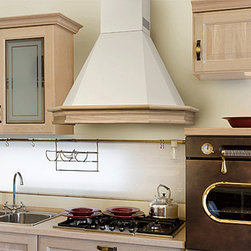 NT AIR - NT AIR CHR-117 24-inches - This stainless steel wall mount range hood from NT Air features tempered curved glass and two washable filters. Three speed controls add convenience. The white wood finish will complement any kitchen decor.