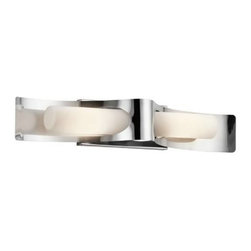 Kichler - Kichler 49151PSS316 Zolder 2 Light Halogen Outdoor Wall Sconce in Polished Stain - Single bulb outdoor wall sconces add a touch of elegance to any landscape Housing is constructed of metal - providing years of reliable performance Fully covered under Kichler's 1-year limited warranty Features cylinder shaped glass shade Pair this sconce with a variety of post lights from the Zolder Collection for a coordinated landscape Ultra secure mounting assemblyBulb Type: Incandescent Bulbs Included: Yes Collection: Zolder Country of Origin: China Energy Efficient: No Extends: 4-1 4 Finish: Polished Stainless Steel Height: 26-1 2 Light Direction: Ambient Lighting Number of Lights: 2 Shade Color: White Shade Material: Glass Shade Shape: Cylinder Shade Type: Etched Socket Type: Candelabra Style: Contemporary Wattage: 60 Weight: 3.83 Width: 4-1 2