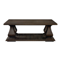 Emporium Rectangular Cocktail Table - Features a Smoked Oak finish