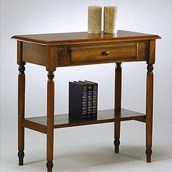Office Star Products - Office Star Knob Hill Foyer Table - Add a decorative touch to your home's entryway or living room with this wooden foyer table made by Office Star. It is made of solid wood and has an antique cherry finish that gives it an elegant appearance to instantly dress up any area.