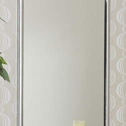 Holly & Martin - Holly & Martin Roxburgh Chrome Wall Mirror - Chrome frame. 5mm Glass Mirror. Durable metal frame. Ready to hang. No assembly required. 22 in. W x 36 in. H (25.24 lbs.)The contemporary elegance of this wall mirror will bring a pleasantly distinct style to your home. The metal frame is finished in brilliant chrome that will add a in.wow in. factor to your home. This elegant mirror can be used to achieve a formal atmosphere or a casual contemporary home setting.