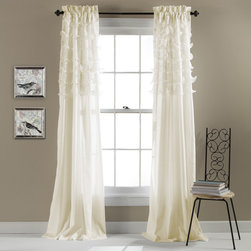 Lush Decor - Lush Decor Avery Curtain Panel Pair - You'll love the billowing elegance that these curtains provide. Featuring diaphanous tiers over soft microfiber fabric,these Avery panel curtains will update your home with class.