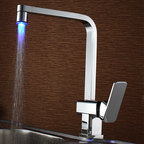 None - Sumerain LED Kitchen Faucet - With a built-in LED light and temperature sensor, enjoy watching this faucet illuminate and change colors as you change the water temperature.
