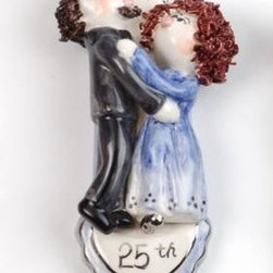 ATD - 5.5 Inch 25th Anniversary Dancing Couple Statue Wall Decor - This gorgeous 5.5 Inch 25th Anniversary Dancing Couple Statue Wall Decor has the finest details and highest quality you will find anywhere! 5.5 Inch 25th Anniversary Dancing Couple Statue Wall Decor is truly remarkable.