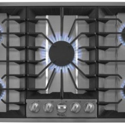 """Whirlpool - GLS3665RS Gold 36"""" Sealed Burner Gas Cooktop with 5 Sealed Burners  15 000 BTU P - The Whirlpool GLS3665RS gold 36 in 5-burner gas cooktop features sealed gas burners Cooktop Power burners full width cast iron burner grates and automatic re-ignition This Whirlpool gives you the ability to quickly boil water select a heat output and..."""