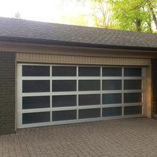 Modern Garage And Shed by Premier Door Service of Detroit