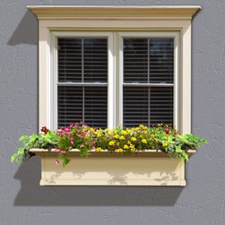 Mayne Yorkshire Assembled Window Box - Bring the charm and beauty of the East Coast to your home with the Mayne Yorkshire Assembled Window Box. It's crafted from high-quality vinyl to give you the appearance of wood without the maintenance. The built-in sub-irrigation water system encourages root growth so you can be sure your plants and flowers look fresh and beautiful throughout the season.