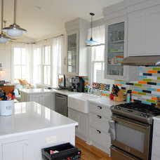 Eclectic Kitchen my houzz -- kitchen color!