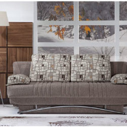 Fantasy Modern Sofa Sleeper in Aristo Light Brown -