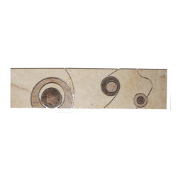 Highland Moonglow Travertine Border - The possibilities are endless. You could use it as chair rail in a room to break it up. Or as a border under crown molding. Or above it. Decorate with abandon!