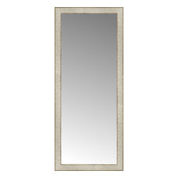 """Posters 2 Prints, LLC - 18"""" x 42"""" Libretto Antique Silver Custom Framed Mirror - 18"""" x 42"""" Custom Framed Mirror made by Posters 2 Prints. Standard glass with unrivaled selection of crafted mirror frames.  Protected with category II safety backing to keep glass fragments together should the mirror be accidentally broken.  Safe arrival guaranteed.  Made in the United States of America"""
