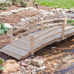 "Coral Coast - Coral Coast Harrison 10-ft. Wood Garden Bridge Multicolor - CWR299 - Shop for Gates and Bridges from Hayneedle.com! Allow the Coral Coast Harrison 10-ft. Wood Garden Bridge to take your yard across the gap between ""cute"" and ""charming."" Crafted of beautiful weather-resistant fir wood this bridge is unfinished. You can stain it any way you like. Place it over streams ponds ... anywhere in your outdoor living space. About Coral CoastWhat if when you closed your eyes you pictured yourself in your own backyard? Coral Coast has a collection of easygoing affordable outdoor accessories for your patio pool or backyard. The latest colors and styles mingle with true classics in weather-worthy fabrics and finished woods ready for relaxation. Make yours a life of leisure."