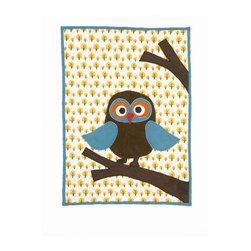 ferm LIVING - Mr. Wise Guy Owl Quilted Blanket - Mr. Wise Guy Owl Quilted Blanket