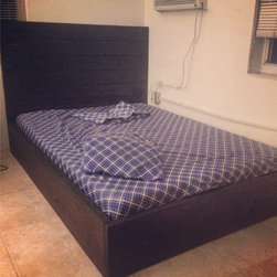 Rustic Platform Bed w/ Modern Basic Headboard // Rustic Bed // Rustic Headboard - All 100% Wood. Hand Made. Modern Sleek Look. With a touch of Rustic (Current Picture Shown is a Queen)