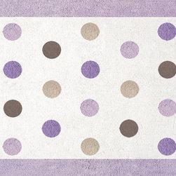 Sweet Jojo Designs - Purple Mod Dots Floor Rug by Sweet Jojo Designs - The Purple Mod Dots Floor Rug by Sweet Jojo Designs, along with the  bedding accessories.