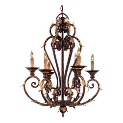"""Metropolitan - Metropolitan N6235 Six Light 34"""" Tall Chandelier from the Zaragoza Collection - Tuscan Six Light 34"""" Tall Chandelier from the Zaragoza CollectionSince 1939, the Metropolitan� Lighting Fixture Co. has been proudly illuminating the finest interiors with antique reproduction lighting fixtures made from alabaster, brass, bronze, iron, wood and mouth blown Murano glass.  Although Metropolitan looks forward to the future with great anticipation, they are ever mindful of their heritage in the past.Features:"""