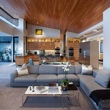 Contemporary Family Room by DrewettWorks
