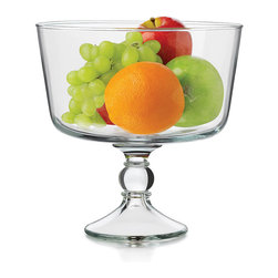 Libbey - Trifle Bowl - Everyone loves a tasty trifle, and with this beautiful bowl they'll be in steady supply. It also looks great as a centerpiece when filled with faux fruit or fresh flowers.   8.8'' diameter Glass Dishwasher-safe Imported