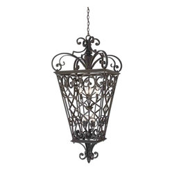 Quoizel Lighting - Quoizel FQ1931MK01 French Quarter Marcado Black Outdoor Lantern - 8, 60W B10 Candelabra