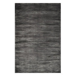 "Loloi Rugs - Loloi Rugs Nyla Collection - Iron, 2'-4"" x 7'-9"" - The power-loomed Nyla Collection from Egypt offers a range of subtle, sophisticated looks that enhance an interior space at a value-driven price. Made of 100% viscose, Nyla features soft color combinations with touches of mocha, plum, and mist throughout the selection."