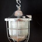 European vintage industrial furniture - Industrial pendant light no. 23