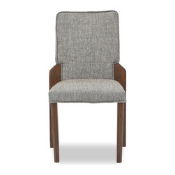 Bryght - Hina Coral Fabric Upholstered Dining Chair - The Hina stackable dining chair with its comfortably padded seat and back offers you the luxury of space saving with style. The Hina dining chair's durable coral upholstery makes it ideal for longer sittings or every day use.