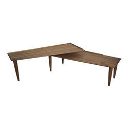 NOIR - NOIR Furniture - Slate Coffee Table in Stone/Reclaimed Oak - GTAB147 - Features: