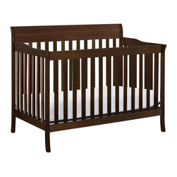 Da Vinci - Da Vinci Summit 4-in-1 Convertible Crib in Espresso - Da Vinci - Cribs - M8101Q - At the peak of quality and value Davincis Summit 4-in-1 Convertible Crib is perfect for the parent looking for a safe and sturdy nursery centerpiece.  Featuring four adjustable mattress levels and easily converting to a daybed toddler bed and full size bed baby can grow comfortably while Summit conveniently adapts to your ever changing needs.  Made of sustainable New Zealand Pine wood Summit Crib is also lead and phthalate safe ensuring it not only adapts but withstands the test of time.