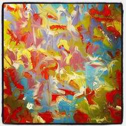 """""""Yes!, Painting"""" - Abstract oil on canvas inspired by natural elements"""
