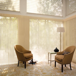 Luminette Privacy Sheers - Vertical Blinds - Kirkwood Two Blind Guys - Luminette Privacy Sheers look beautiful as a vertical blind. Hunter Douglas Luminette Privacy Sheers are traditional and elegant.