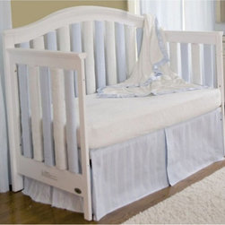 Go Mama Go Designs - Go Mama Go Designs Wonder Bumpers Blue & Cream 24 Pack - 718122807376 - Shop for Crib Bumper Pads from Hayneedle.com! About Go Mama Go Designs Wonder Bumpers Blue & Cream 24 PackScientifically proven to be safe Wonder Bumpers offer padded protection on the crib's hard rails without the risk of suffocation or entanglement. Compared to standard bumpers which have proven to be a suffocation risk Wonder Bumpers offer increased airflow and reduce CO2 re-breathing. The protect baby's head and body and inhibit toddlers from climbing out of their cribs. They also keep limps safely inside. Wonder Bumpers have a sleek vertical design that effortlessly zips onto your crib rails in a downward motion ensuring babies don't have access to the pull. With no ties to worry about they're easy to use and easy to wash.