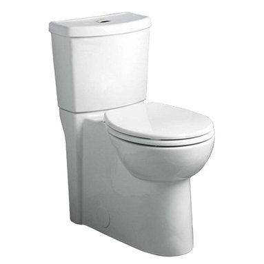 "American Standard - American Standard 2794.204.020 Studio Dual Flush Elongated Toilet w/ Seat, White - American Standard 2794.204.020 Studio Concealed Trapway Dual Flush Right Height Elongated Toilet with Seat,  White. This round-front toilet features a 12"" Rough-in, a siphon-action jetted bowl with a smooth-sided concealed trapway, an EverClean surface that inhibits the growth of bacteria, mold, and mildew, a PowerWash rim that scrubs the bowl with each flush, a 16-1/2"" rim height, a fully-glazed 2-1/8"" trapway, an oversized 3"" flush valve, a Duroplast slow-close seat, a chrome-plated top-mounted push button actuator, and 2 color-matched bolt hole covers."