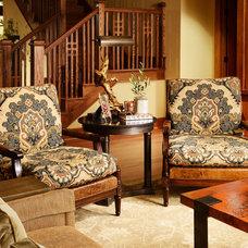 Craftsman Living Room by Nathan Taylor for Obelisk Home